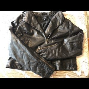 Torrid Faux Leather Bomber Jacket Sz2